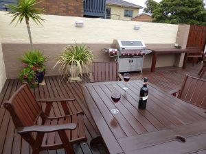 Dromana beach getaway accommodation outdoor area